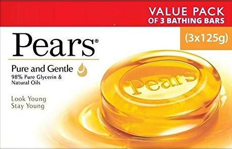 Pears Pure and Gentle Soap Bar, 125g (Pack of 3) at Just Rs. 99