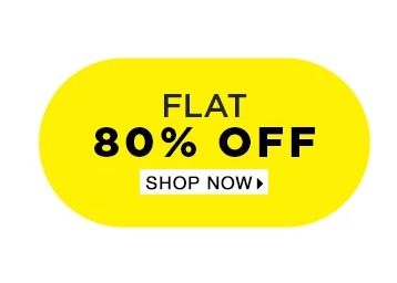 Flat 80% Off on Fashion Range From Top Brands @ Jabong