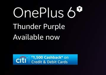 OnePlus 6T Now in Thunder Purple:- Buy Now with Exclusive Launch Offers