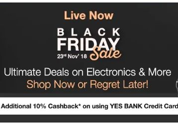 Paytmmall Black Friday & Cyber Monday: Additional 10% cashback on YES BANK Credit Card
