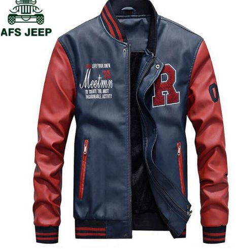 AFS JEEP Embroidery Baseball Jackets Men Letter Stand