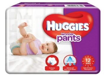 Apply 10% Code:- Huggies Wonder Pants Small Size Diapers (76 Count)