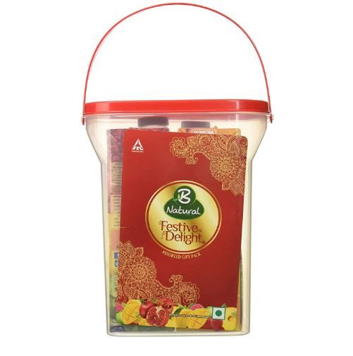 Flat 47% Off:- B Natural Festive Delight Utility Gift Pack with Plastic Container at Rs. 124