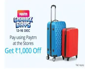 Flat Rs.1000 Off when you pay using Paytm at VIP Bags