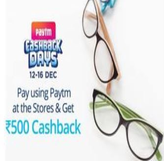Flat Rs.500 Cashback when you pay using Paytm at Specsmakers