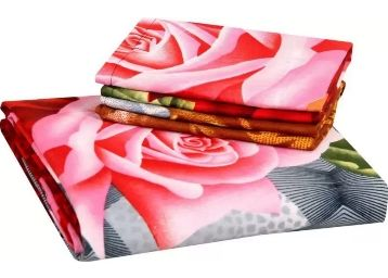 Flat 88% Off:- Supreme Home Collective 144 TC Microfiber Single Floral Bedsheet