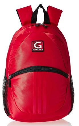 Giordano 19 Ltrs Red Laptop Backpack on 80%OFF