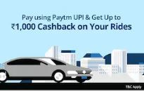 Up to Rs.1000 Cashback when you pay using Paytm UPI on Uber Rides
