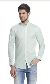 Jack & Jones Men Solid Casual Light Green Shirt on 72% OFF