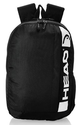 HEAD 20.25 Ltrs Black School Backpack on 80%OFF