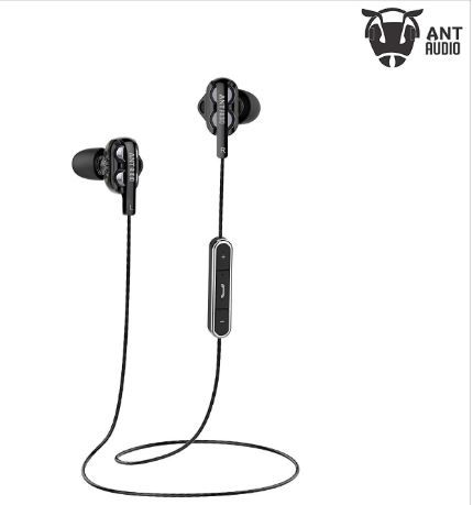 Ant Audio Doble H2 Dual Driver Wireless in-Ear Headset (Black) on 80% OFF