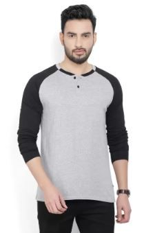 Billion PerfectFit Solid Men Henley Grey on 74% OFF