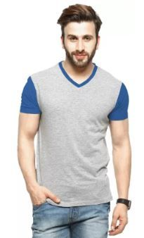 Tripr Solid Men V-neck Multicolor T-Shirt on 79% OFF