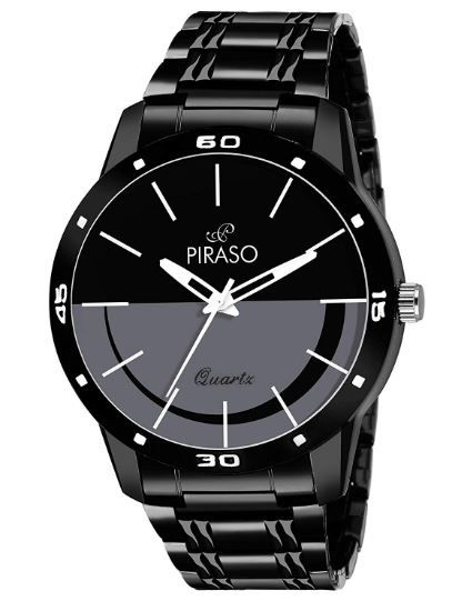 Piraso Analogue Black Dial Men