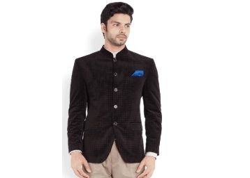 Park Avenue Purple Self Print Jacket At Rs.2765