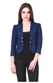 RAFFLESIA TOLPIS 3/4th Sleeve Solid Women Denim Jacket on 63% OFF