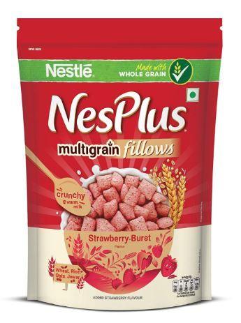 Nestlé NesPlus Breakfast Cereal, Multigrain Fillows – Strawberry-Burst, 250g on 40% OFF