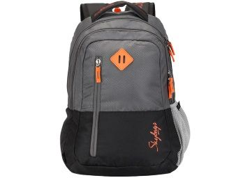 Skybags Footloose Leo 03 Grey & Black Color Block Backpack At Rs.660