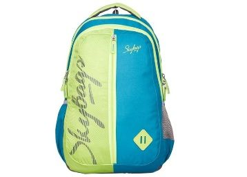 Skybags Footloose Leo 6 Green & Teal Blue Backpack At Rs.705