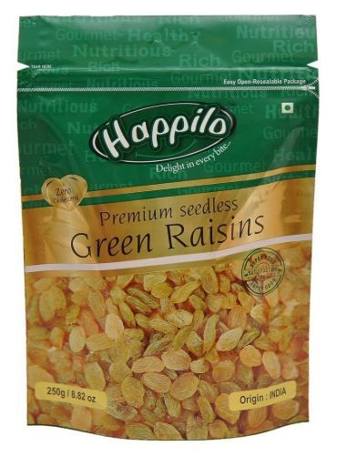 Happilo Premium Seedless Green Raisins, 250g on 10% OFF