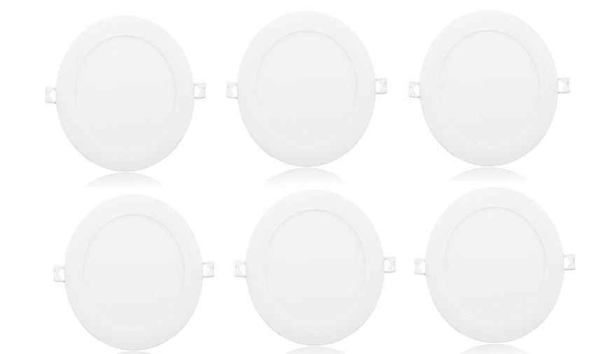 Syska 20 Watts Round LED Panel Light - PA Series (Pack of 6, Warm White) on 65% OFF