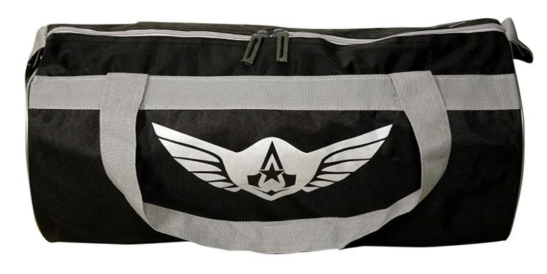 Auxter Polyester Gym Bag, Black on 58% OFF