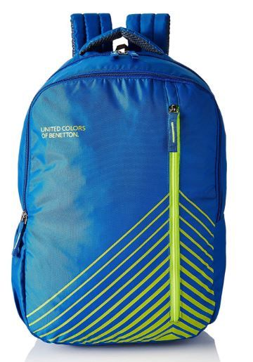 United Colors of Benetton 22 Ltrs Blue Casual Backpack on 45% OFF