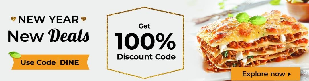 100% Off On Foods Use Code :DINE