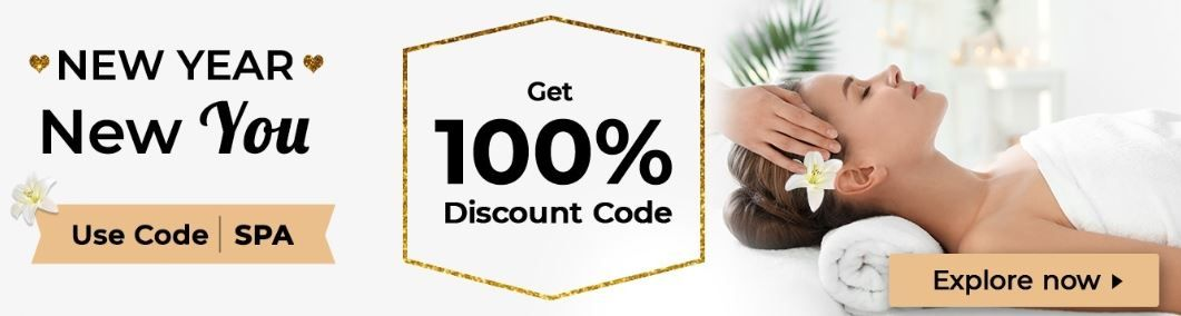 100% Discount On Spa And Massage Use Code: SPA