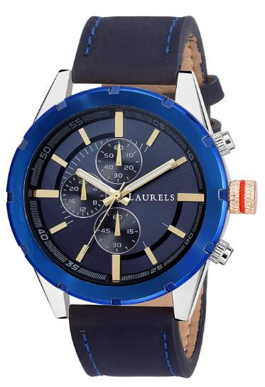 Laurels Curren Analogue Blue Dial Men