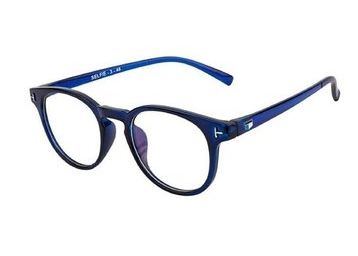 Ivonne Anti-Glare Blue Full Rim Round Eyeglass Frame at Just Rs. 79