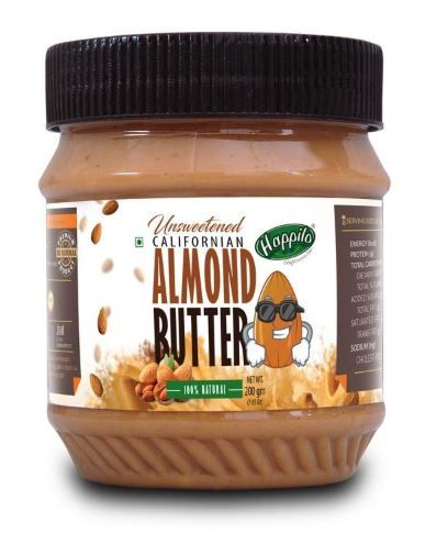 Happilo All Natural Californian Almond Butter, 200g on 25% OFF + 20% Coupon
