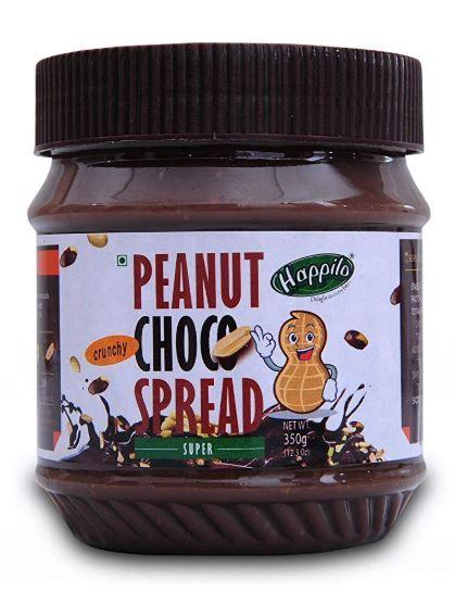 Happilo Crunchy Peanut Choco Spread, 350g on 25% OFF + 20% Coupon