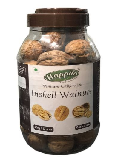 Happilo Premium 100% Natural Californian InShell Walnut Kernels, 500g on 20% OFF + 20% Coupon