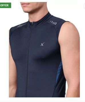 HRX by Hrithik Roshan Sleeveless Solid Men Jacket on 74% OFF