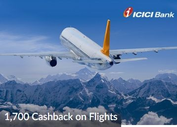 Grab Up to ₹1,700 Cashback to Card on Domestic Flights