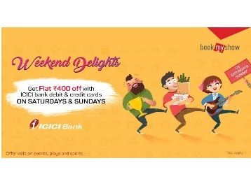 Flat Rs.400 Off With ICICI Bank Card On Weekend