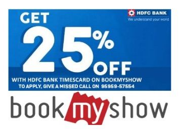 Grab 25% Off Via HDFC Bank Times Card On Bookmyshow