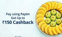 Up to Rs.150 Cashback when you pay using Paytm at Mithaas