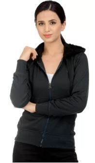 Christy World Full Sleeve Solid Women Jacket on 61% OFF