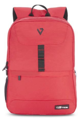 The Vertical 21 Ltrs Red Casual Backpack on 73% OFF