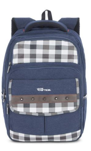 The Vertical Camper Polyester 17 Ltrs Navy School Backpack on 78% OFF