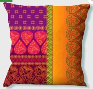 LA VERVE Printed Cushions Cover (40 cm*40 cm, Multicolor) on 88% OFF