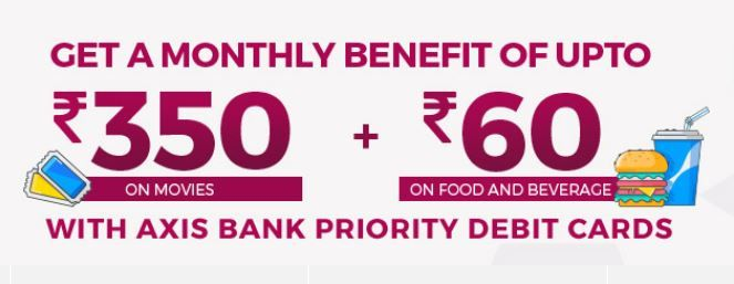 Get A Monthly Benefit of Rs.360 On Movies and Rs.60 On Foods