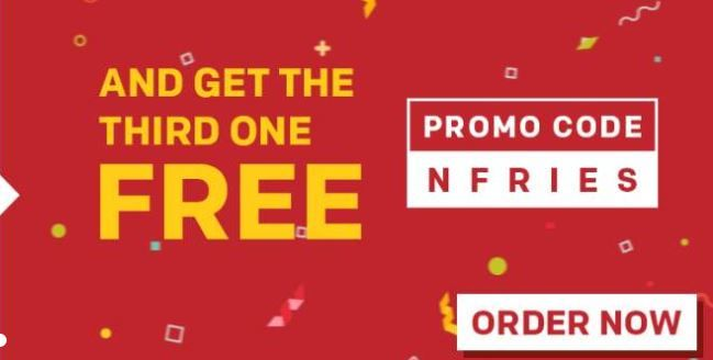 Buy Two Medium Fries And Get The Third One Free