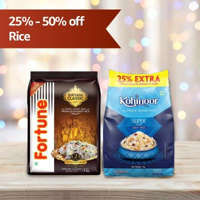 Cooking rice at Flat 25%-50% OFF