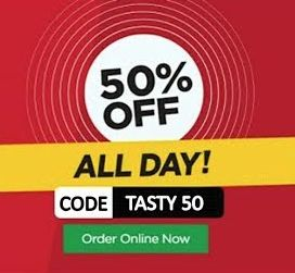 Flat 50% off on Food