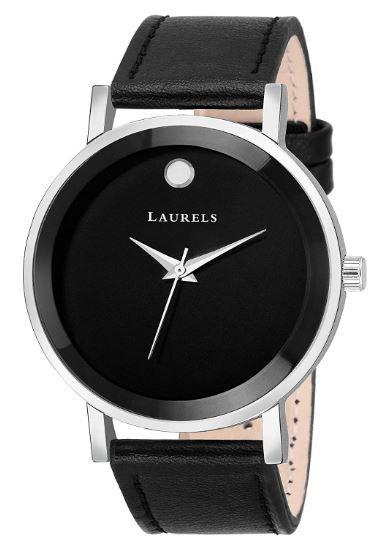 Laurels Lo-moon-020207 Analog Black Dial Men