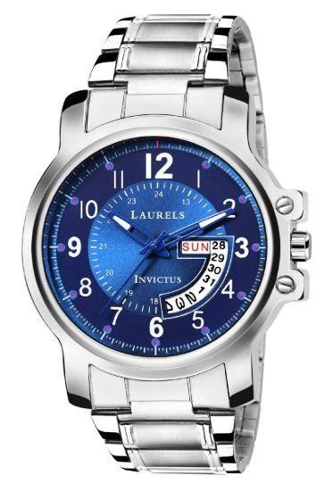 Laurels Lwm-inc-030707 Analog Blue Dial Men