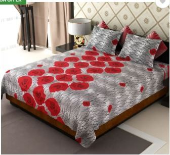 AMETHYST 104 TC Polycotton Double Floral Bedsheet on 79% OFF